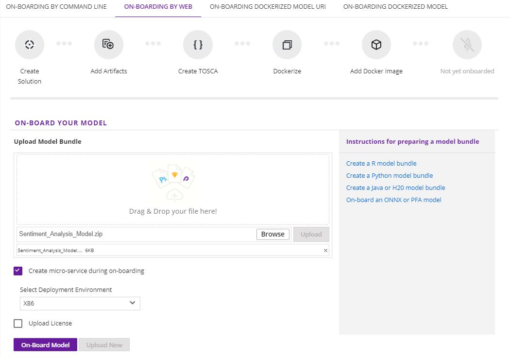 On-Boarding a Model Using the Portal UI — Acumos 1 0 documentation